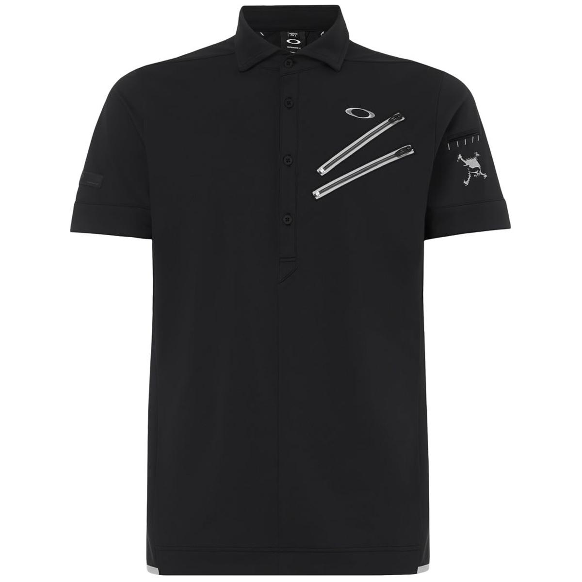 スカル CLAW ジップ 半袖ポロシャツ 4.0