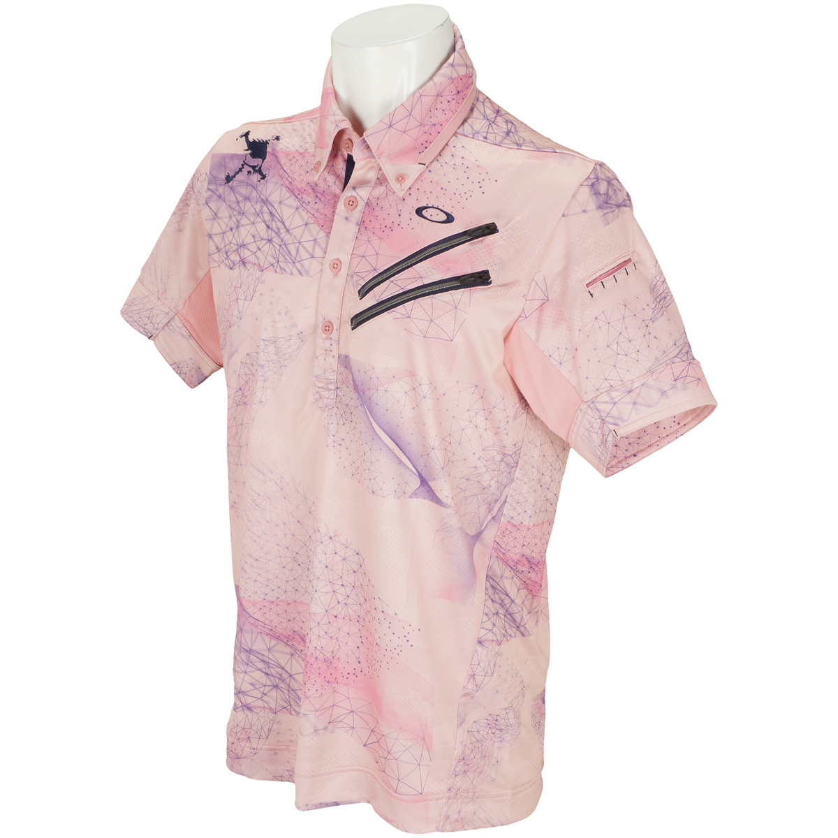 スカル BREATHABLE グラフィック 半袖ポロシャツ