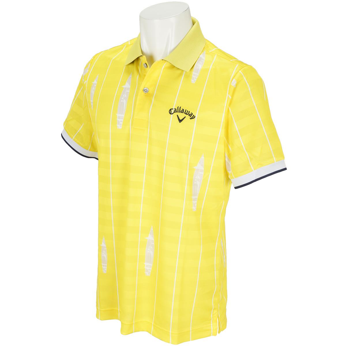 ストライププリントボーダー半袖ポロシャツ