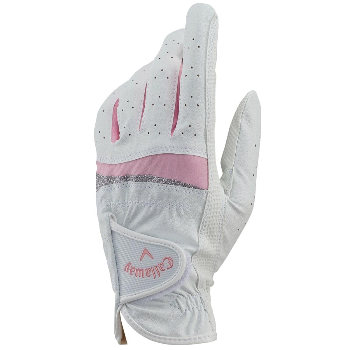 キャロウェイゴルフ Callaway Golf STYLE JM グローブ 18cm 左手着用(右利き用) ホワイト/ピンク レディス