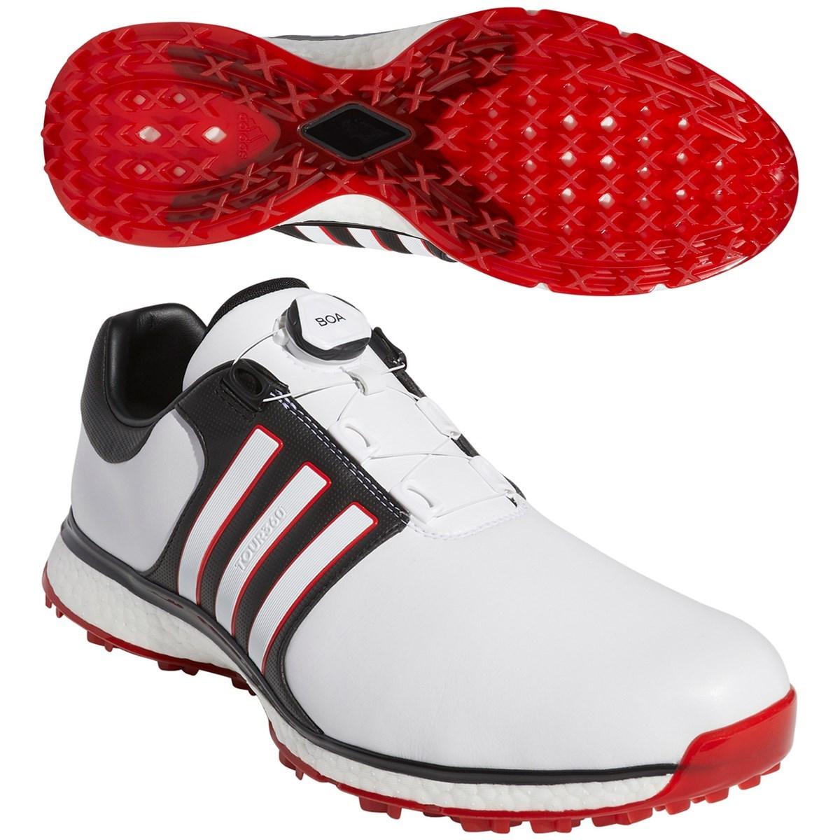 アディダス Adidas ツアー360 XT スパイクレス ボア シューズ 25.5cm ホワイト/コアブラック/スカーレット F34190