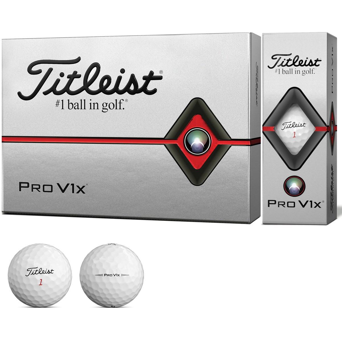 タイトリスト PRO V1 PRO V1X ボール 1ダース(12個入り) ホワイト(ボールナンバー:5、6、7、8)