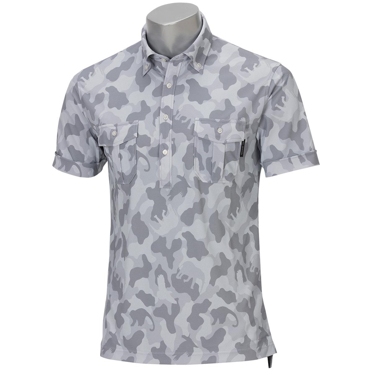 Wポケットボタンダウン半袖ポロシャツ