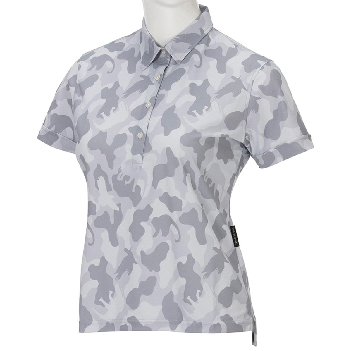GDO オリジナル GDO ORIGINAL UVカット半袖ゴルフポロシャツ M カモ レディス