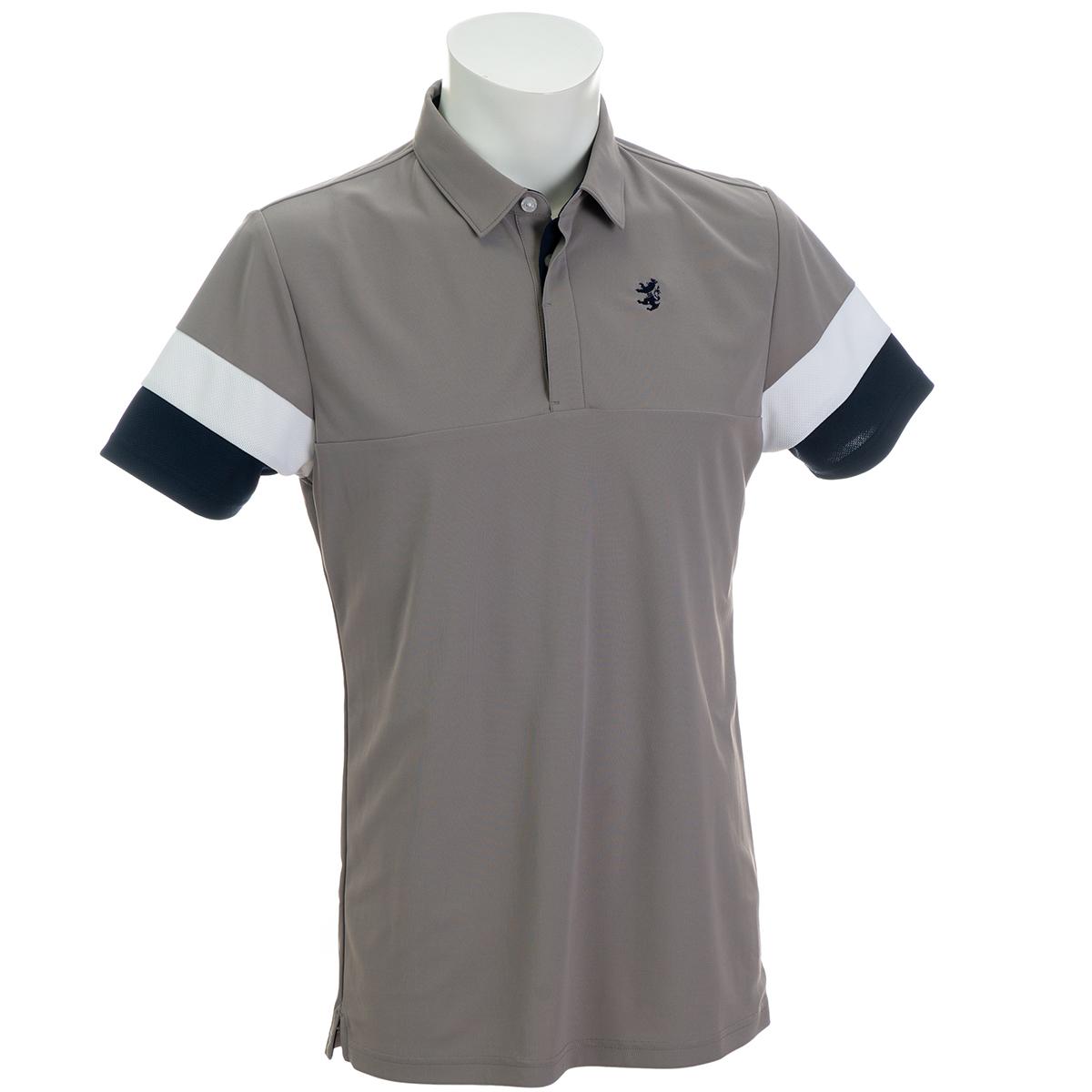 袖トリコ 切替半袖ポロシャツ