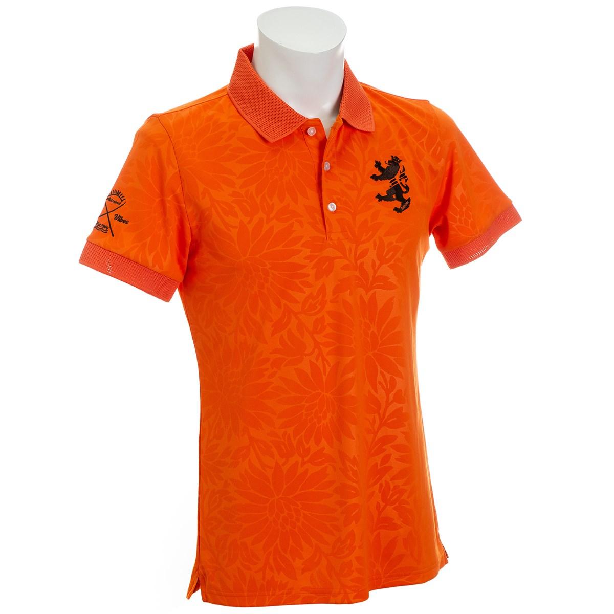 アドミラル フラワーエンボス 襟メッシュ 半袖ポロシャツ