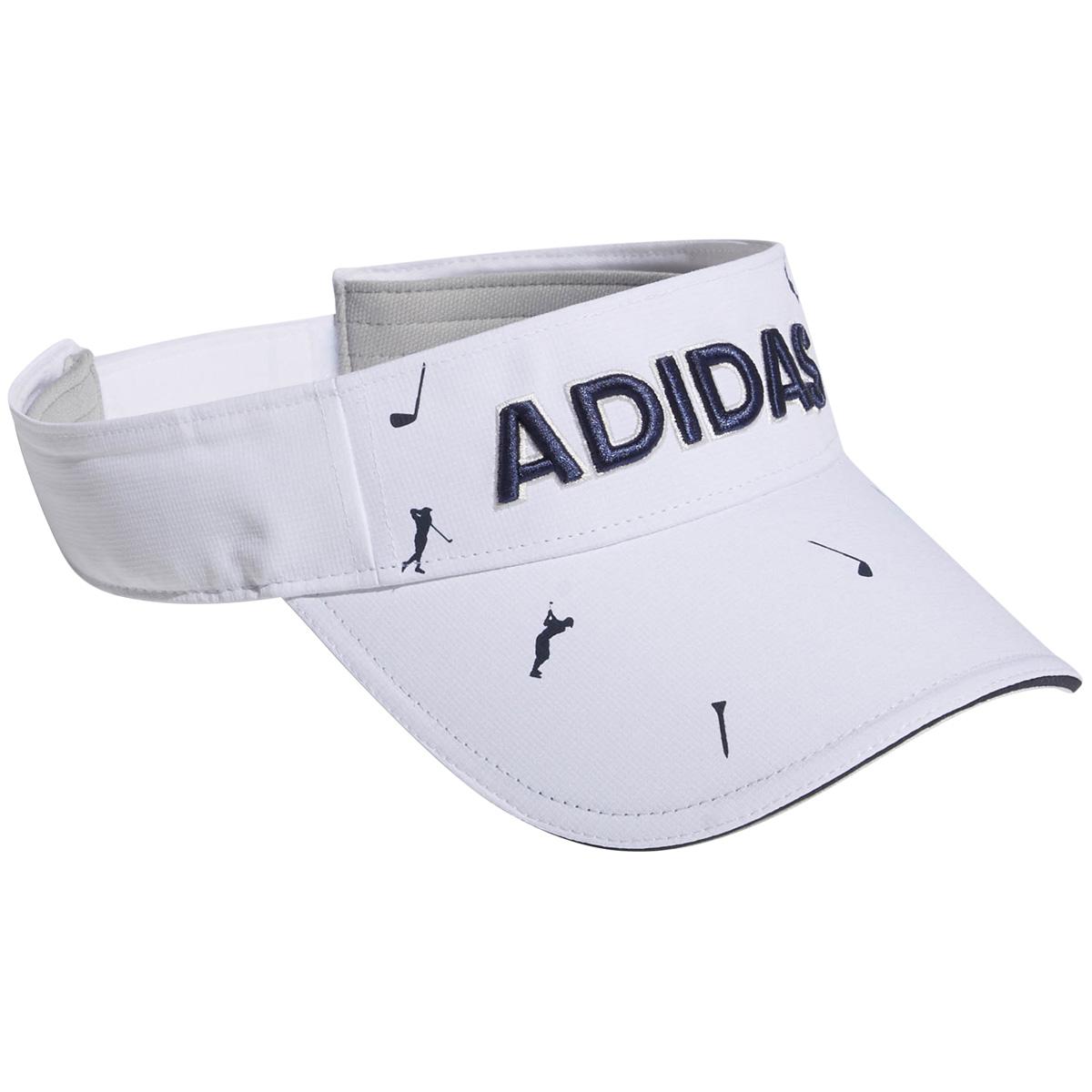 ADICROSS モノグラムプリントサンバイザー