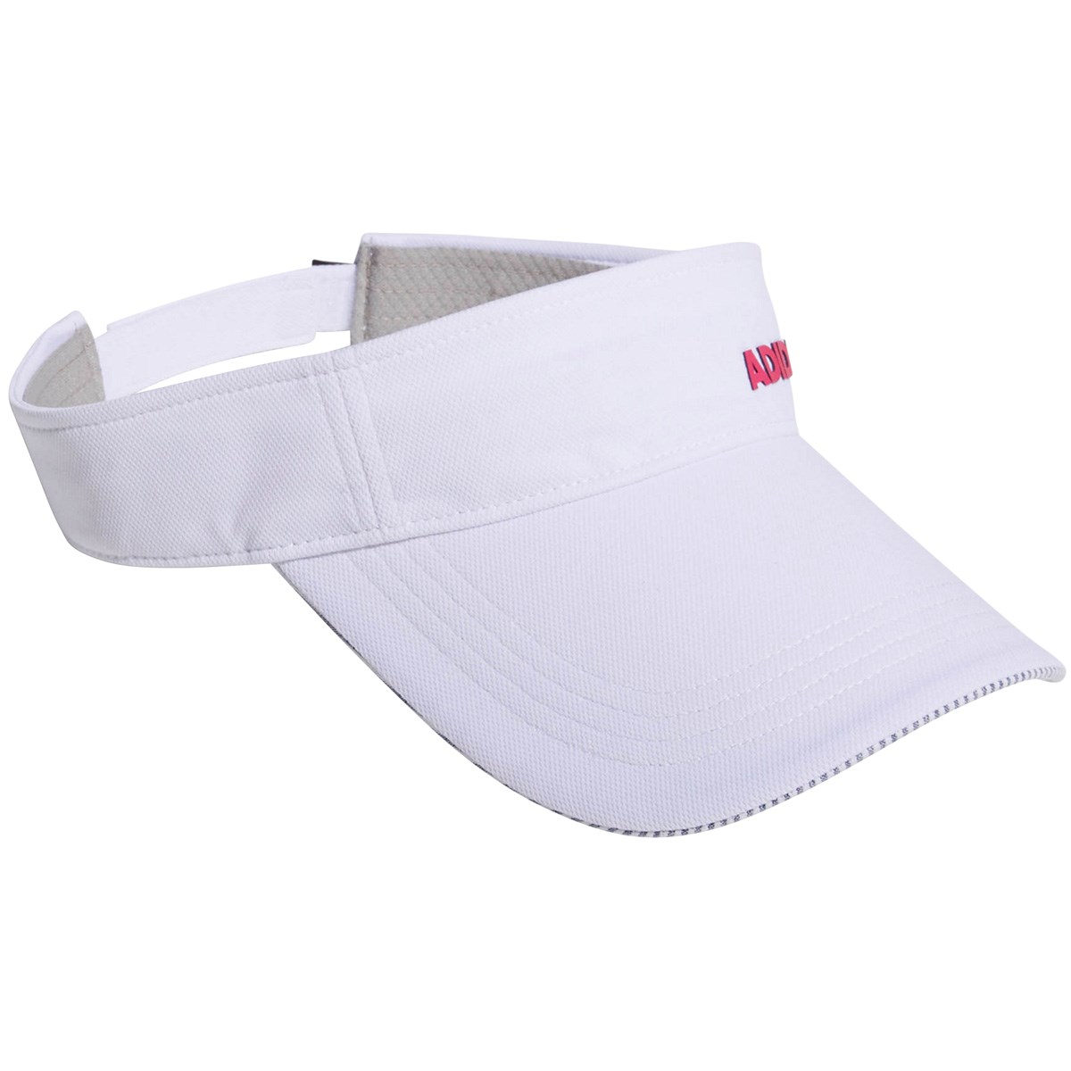 61db6b1e893323 [2019年モデル] アディダス adidas ADICROSS ロゴサンバイザー ホワイト レディース ゴルフウェア .