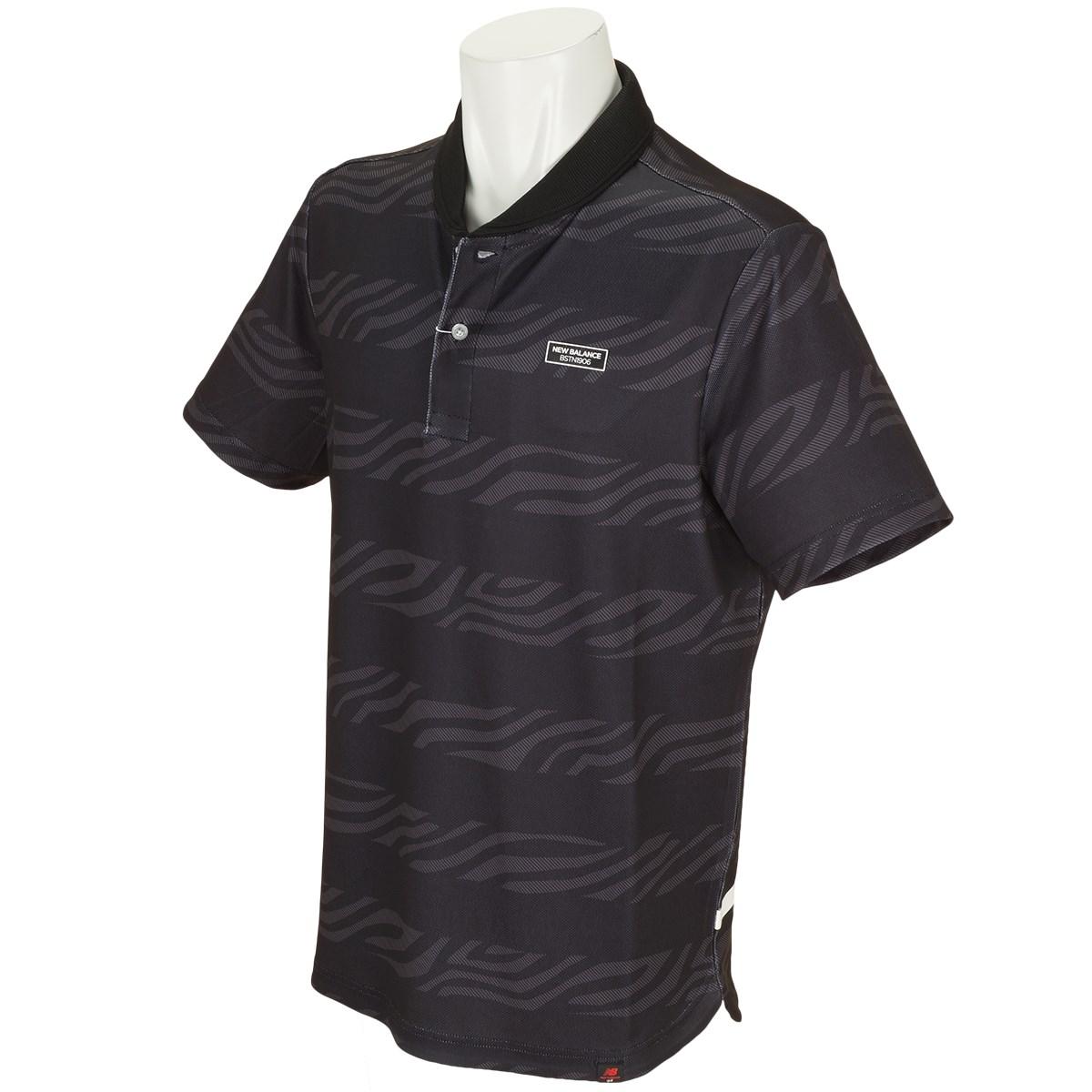 ニューバランス METRO 変形鹿の子 ゼブラボーダープリント半袖ポロシャツ