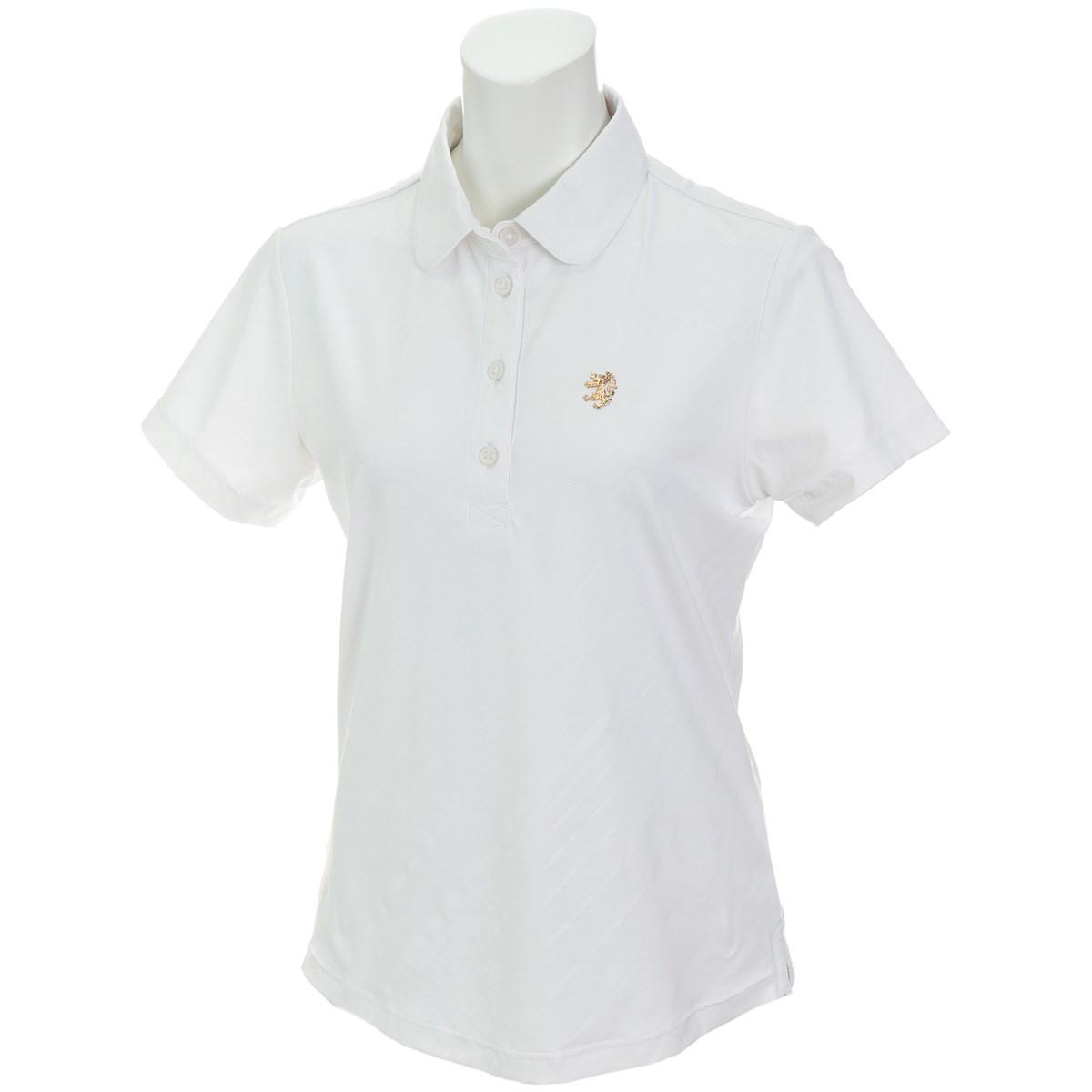 アドミラル Admiral ストレッチ バイアスエンボス 半袖ポロシャツ S ホワイト 00 レディス
