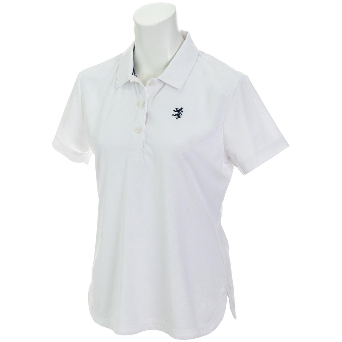 アドミラル Admiral バイアスエンボス 半袖ポロシャツ S ホワイト 00 レディス