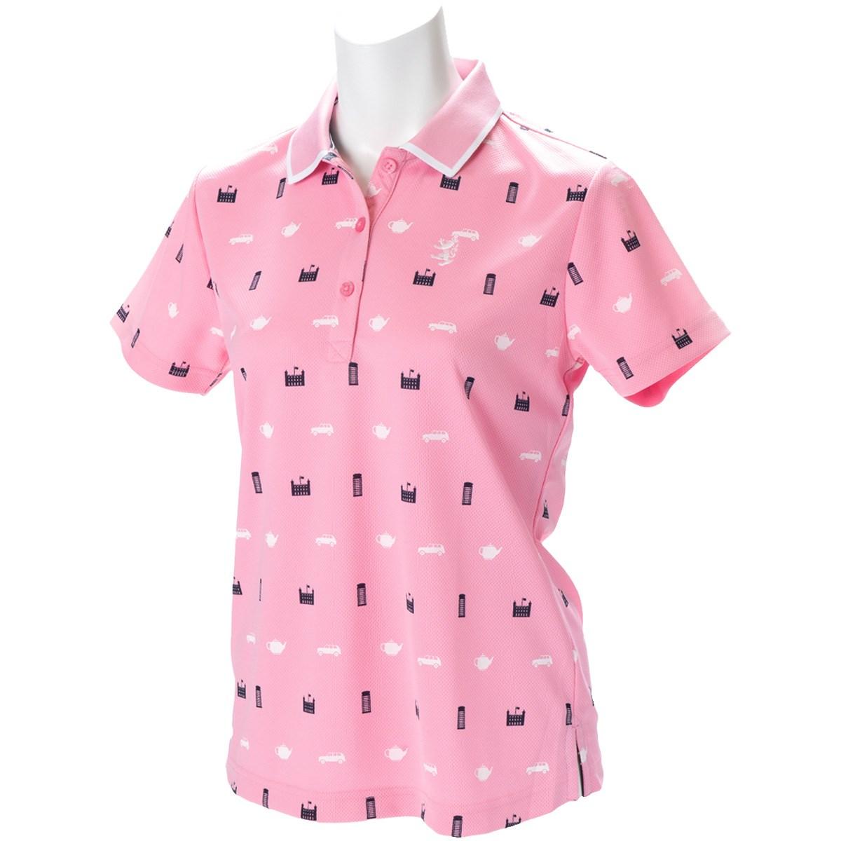 アドミラル Admiral 総柄アイコン 半袖ポロシャツ S ピンク 48 レディス
