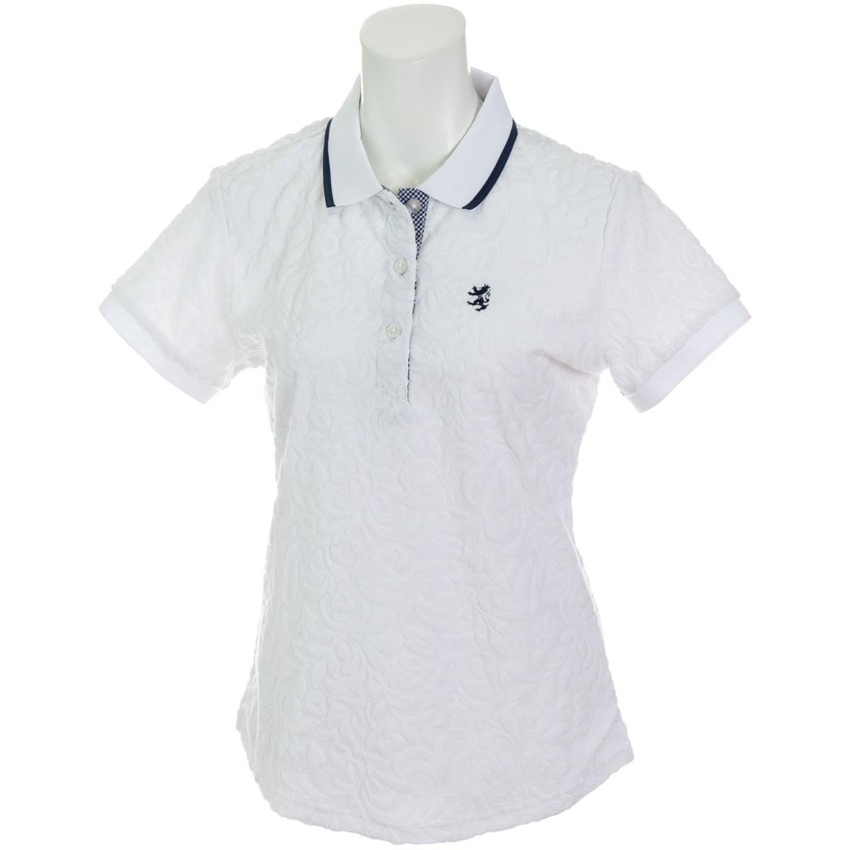 アドミラル Admiral リーフパイル 半袖ポロシャツ S ホワイト 00 レディス