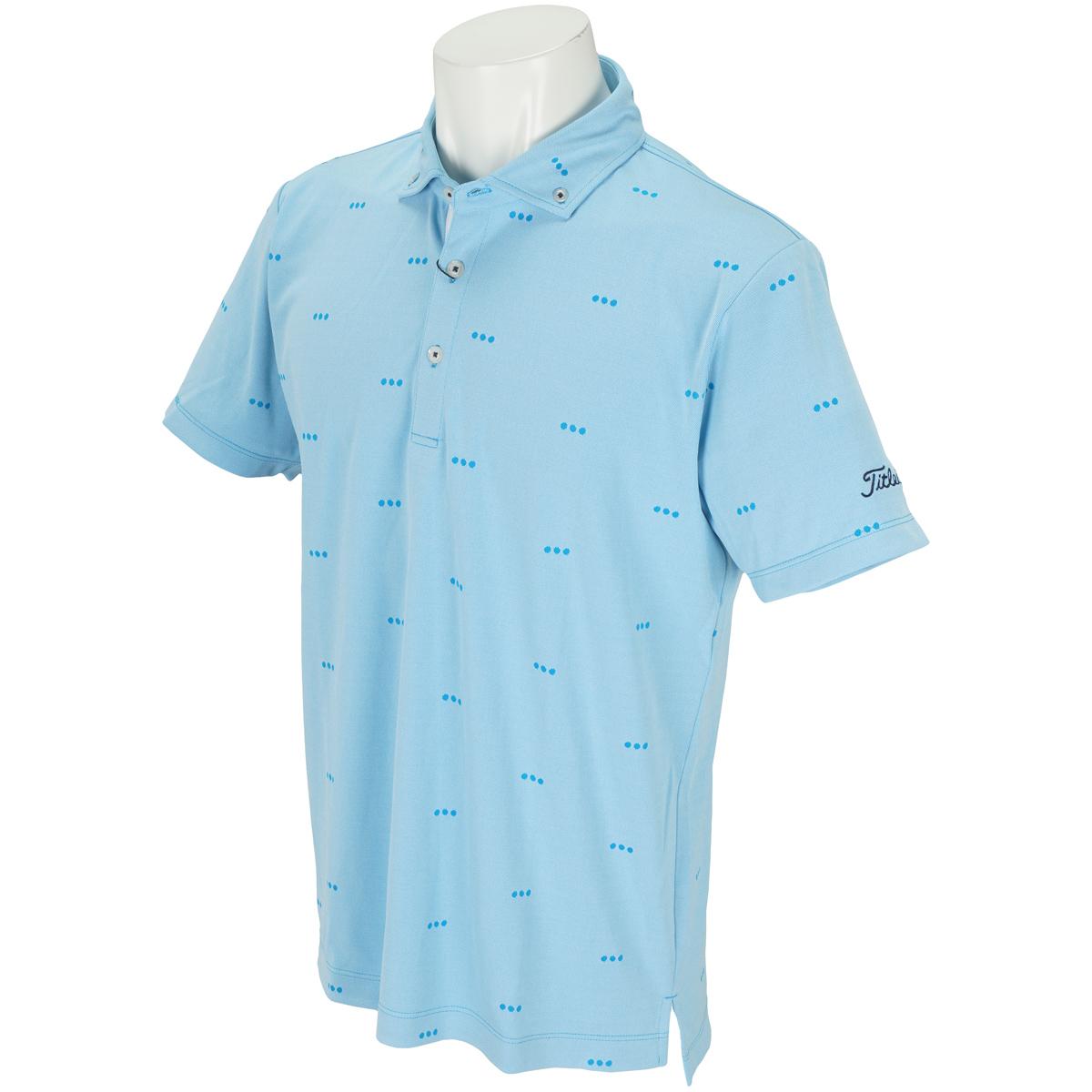 ストレッチドットボタンダウン半袖ポロシャツ