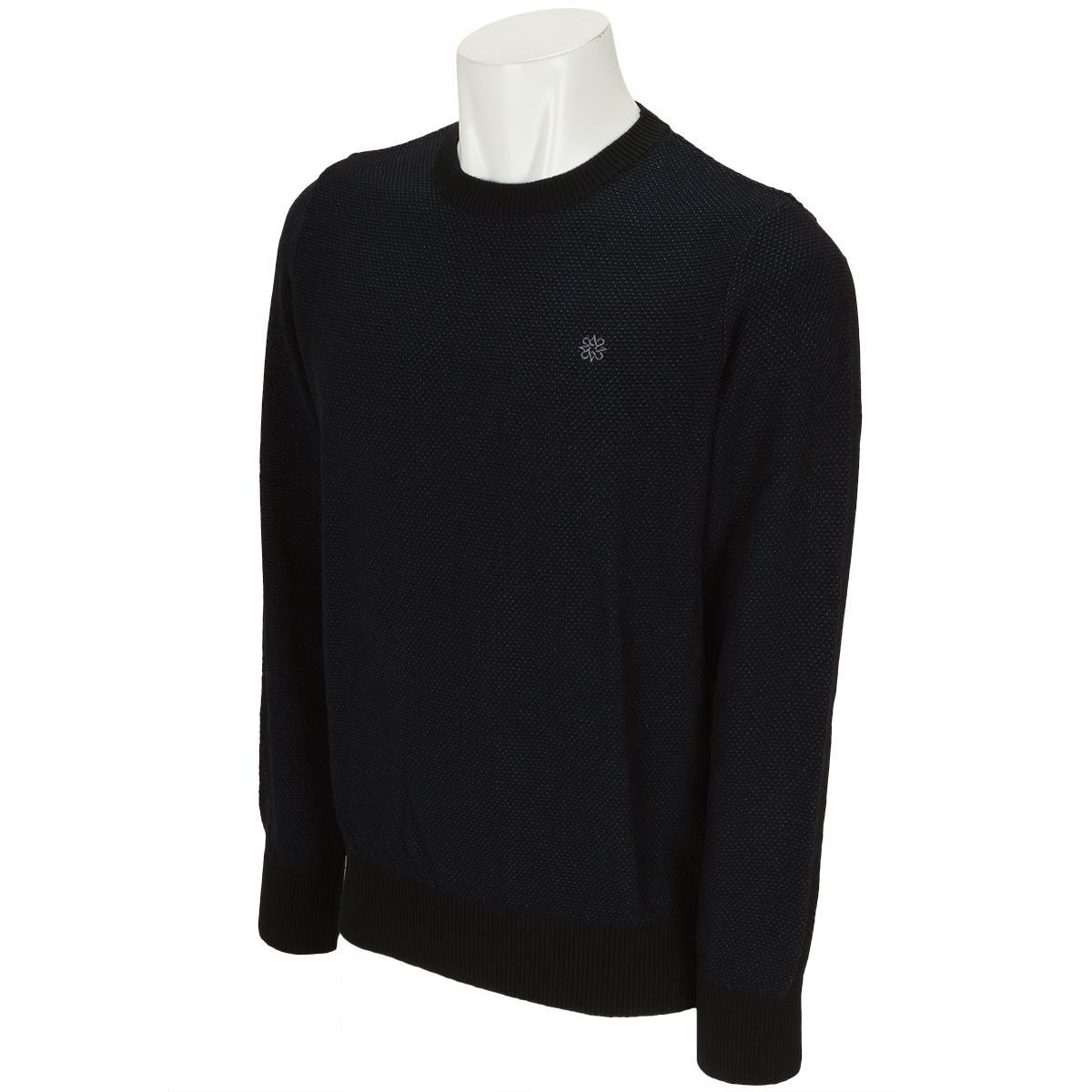 BlackLabel タック編みクルーネックセーター
