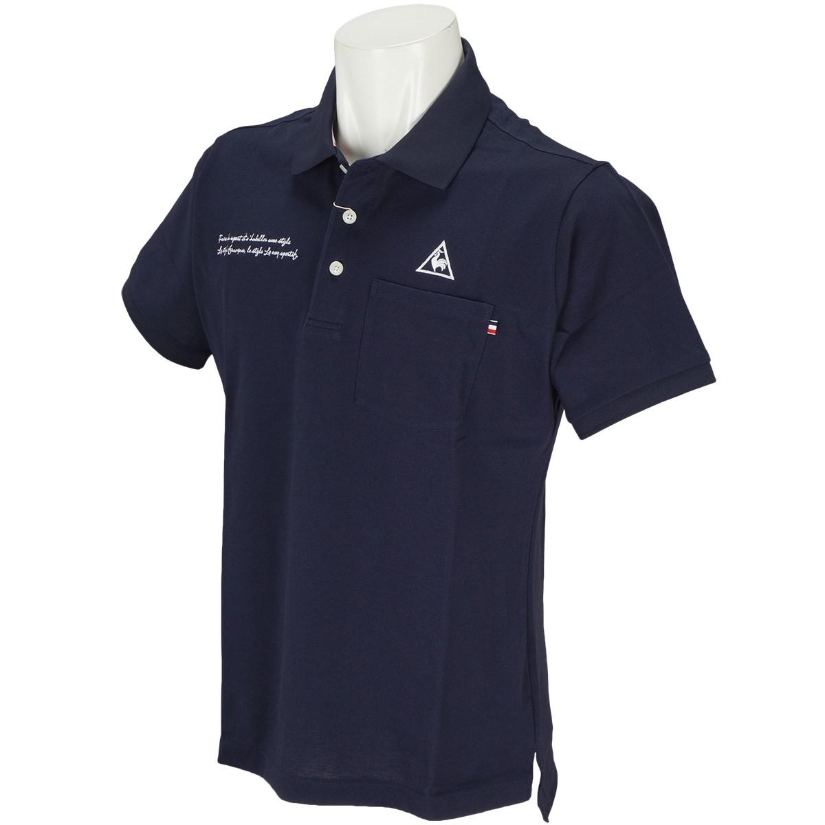 ルコックゴルフ Le coq sportif GOLF 半袖ポロシャツ S ネイビー 00