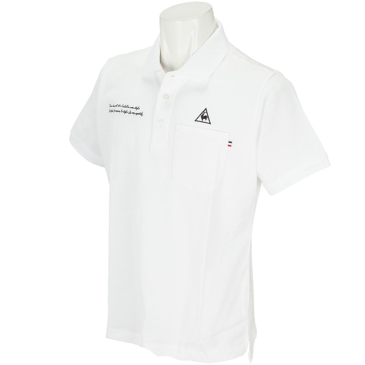ルコックゴルフ Le coq sportif GOLF 半袖ポロシャツ S ホワイト 00