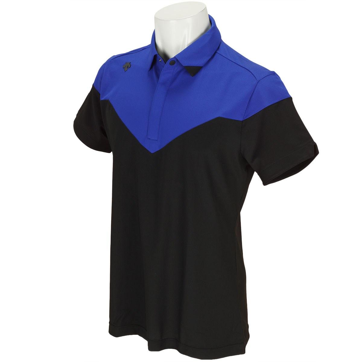 デサントゴルフ DESCENTE GOLF ストレッチ半袖ポロシャツ M ブラック 00