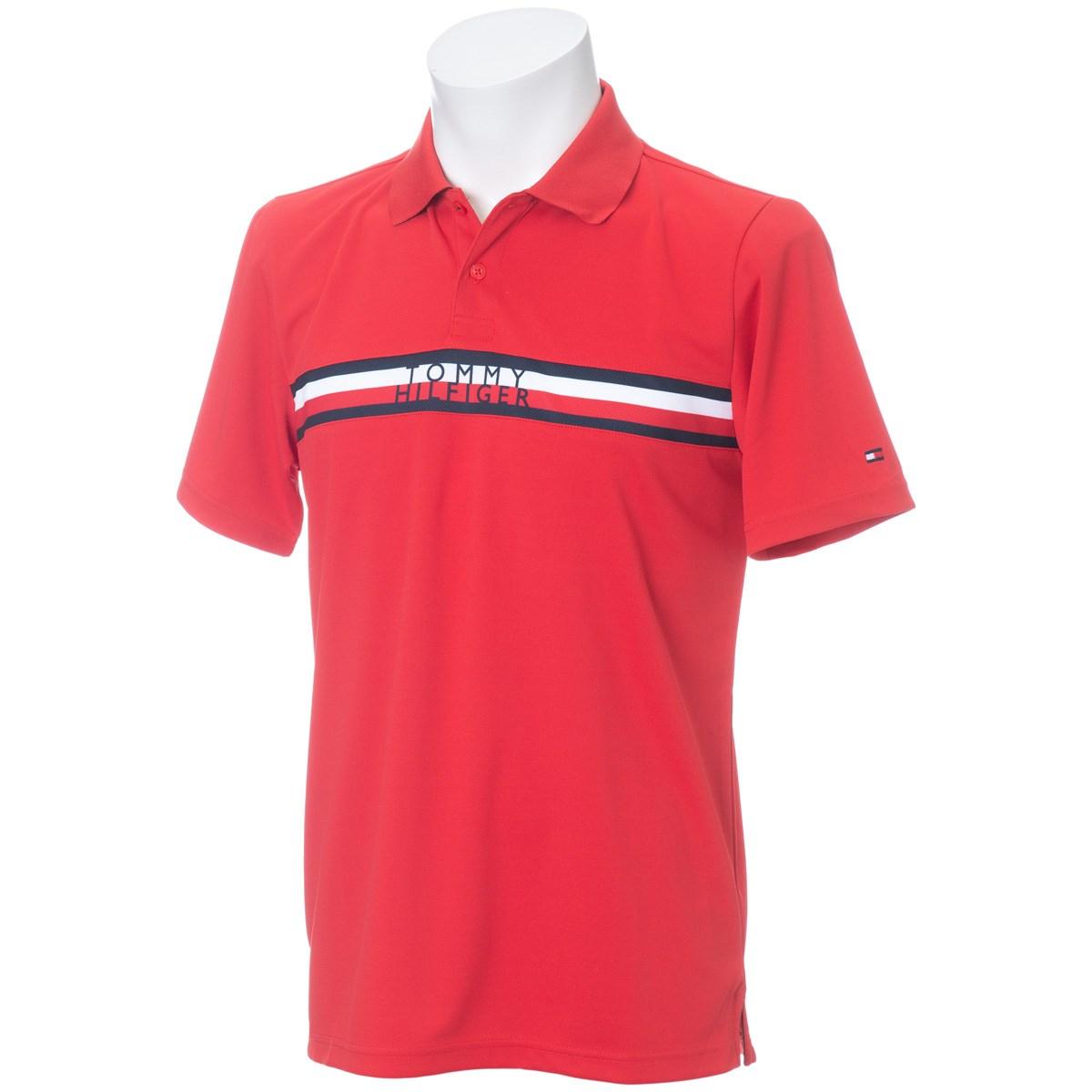 [アウトレット] [50%OFF 在庫限りのお買い得商品] トミー ヒルフィガー ゴルフ シグネチャー 半袖ポロシャツ レッド 40 メンズ ゴルフウェア