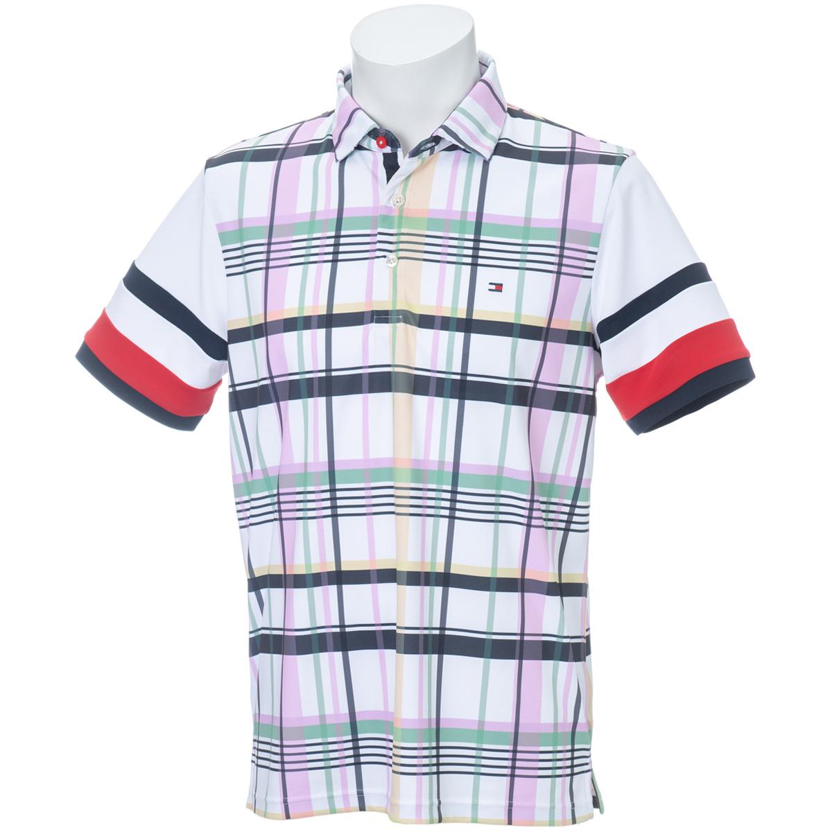 チェック 半袖ポロシャツ