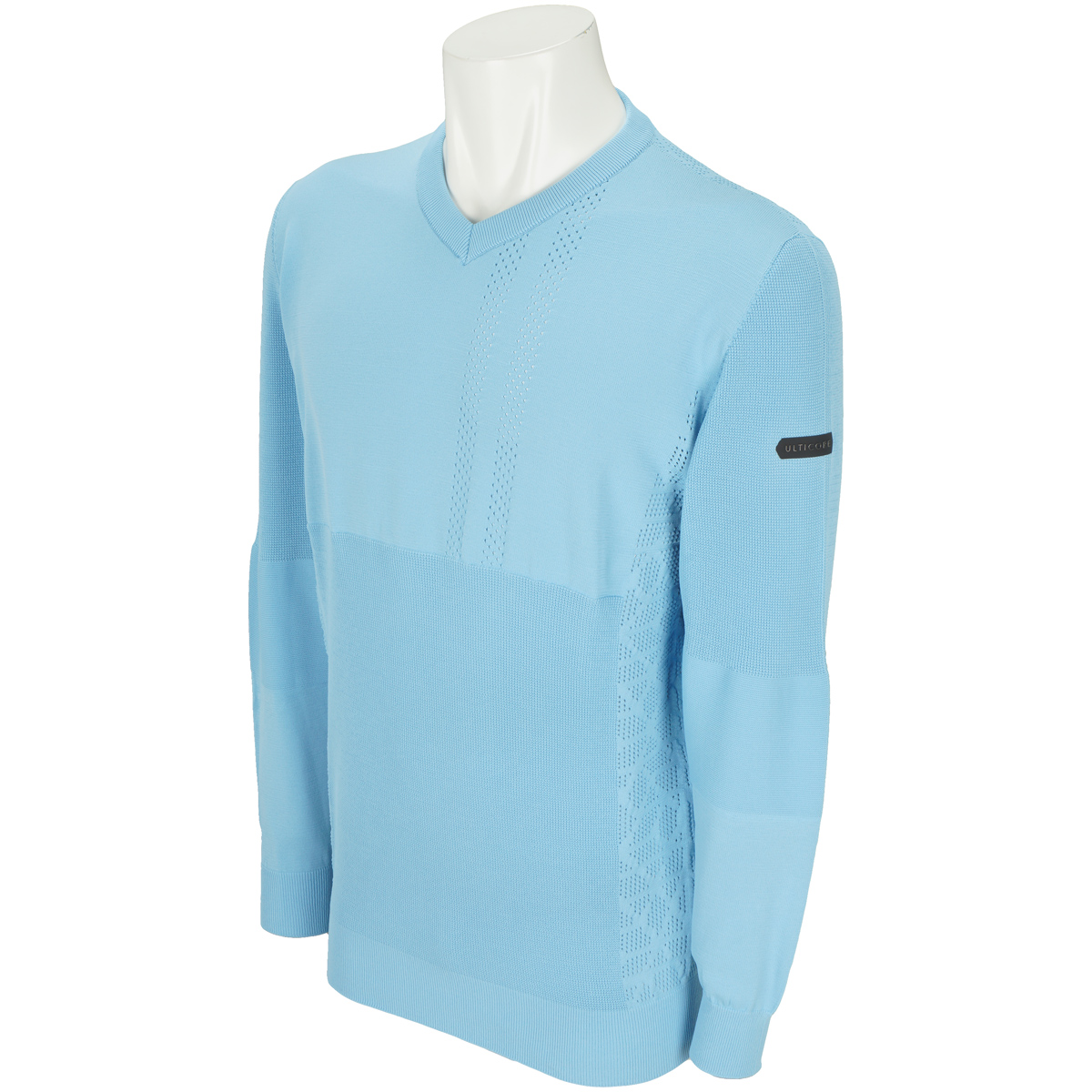 長袖ホールガーメントVネックセーター
