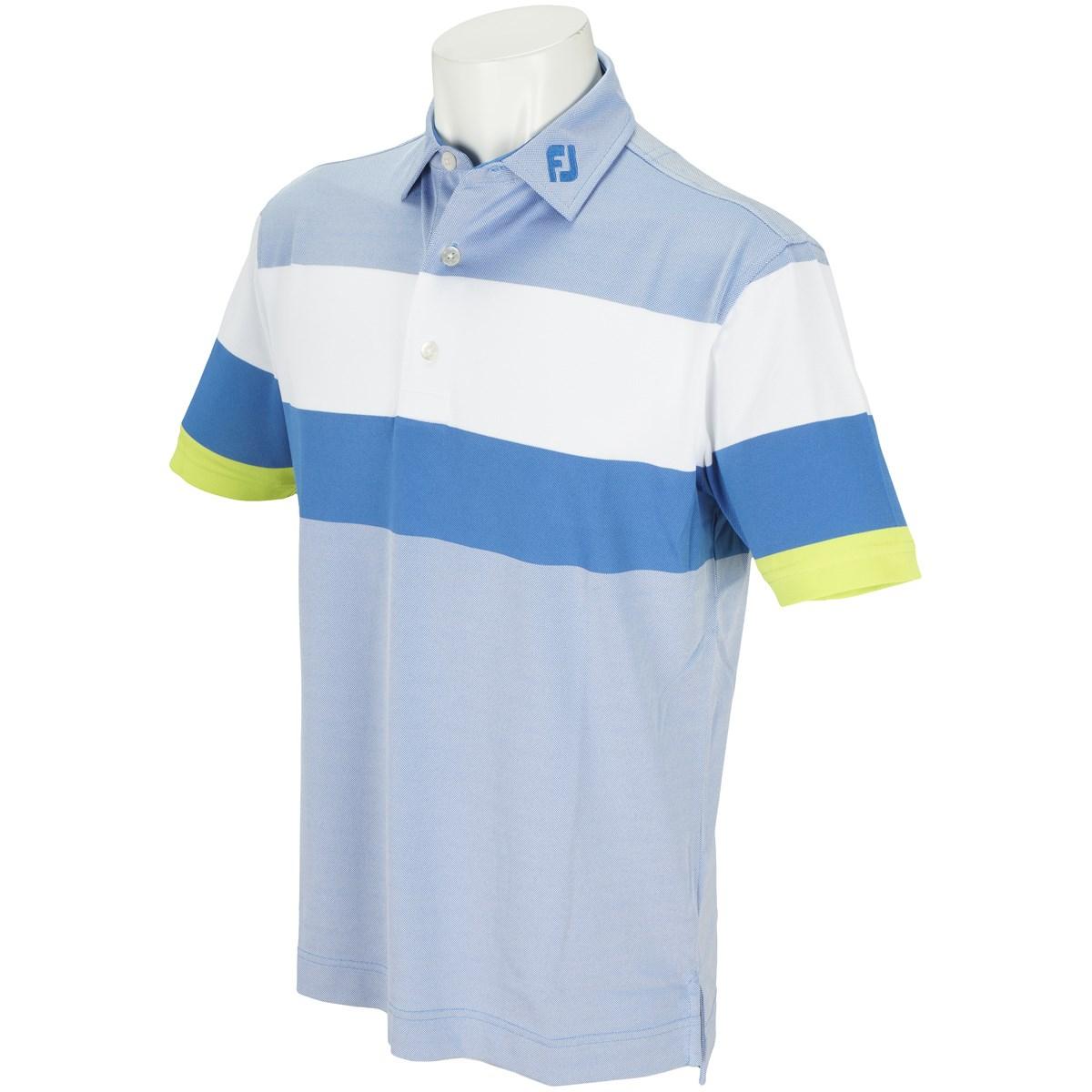 フットジョイ(FootJoy) エンジニアード バーズアイ ストレッチ鹿の子半袖ポロシャツ