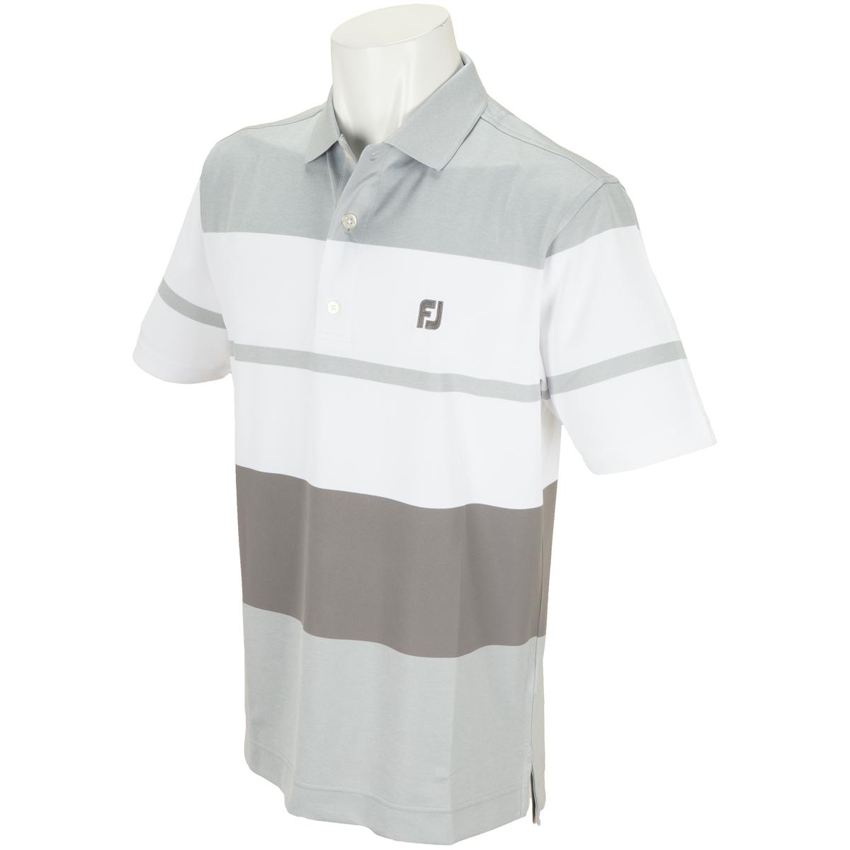 カラーブロック ストレッチ鹿の子半袖ポロシャツ