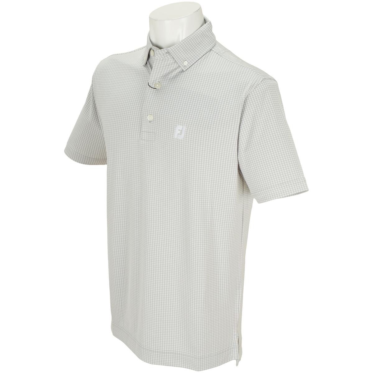 ダイヤモンドジャカード ストレッチボタンダウン半袖ポロシャツ