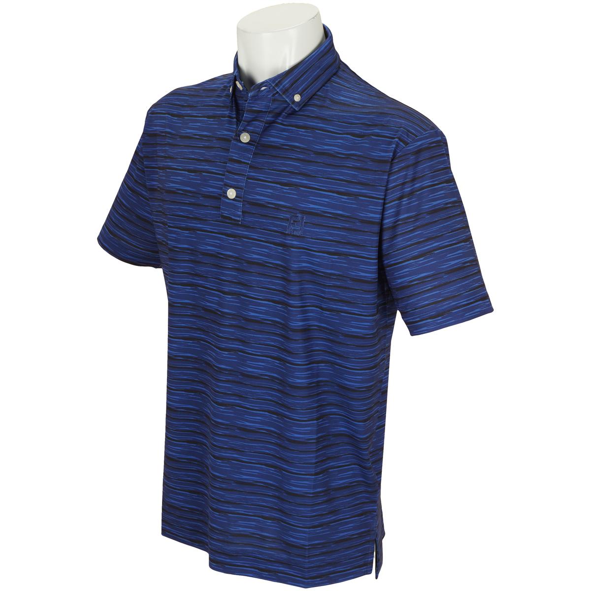 グラフィックストレッチライル半袖ポロシャツ