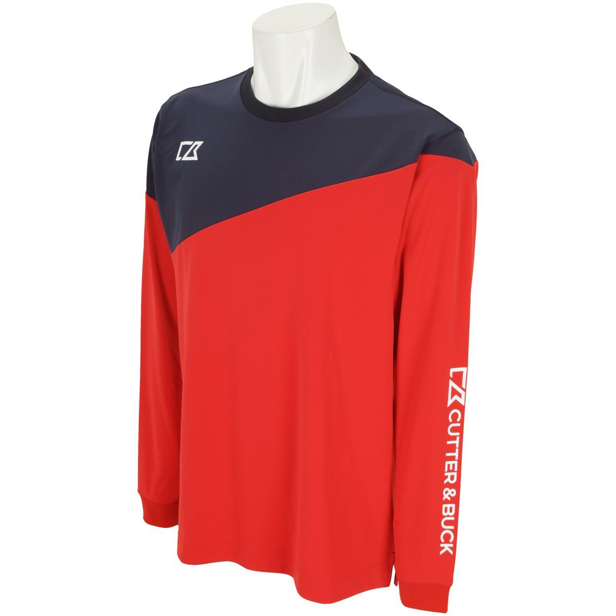 カッター&バック CUTTER&BUCK ストレッチ長袖Tシャツ LL レッド RD00