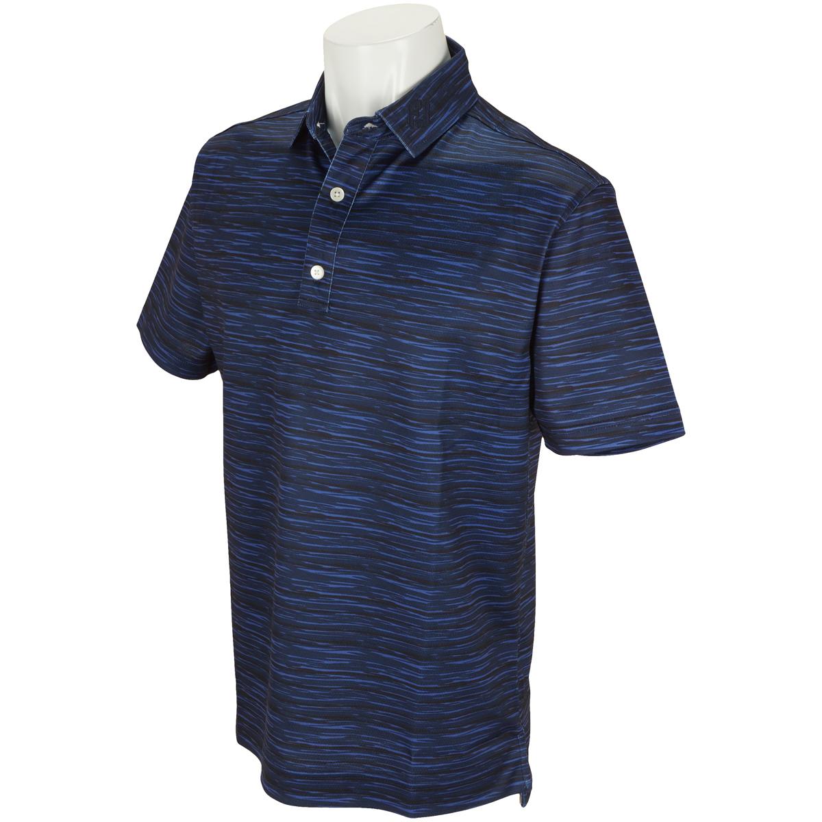 グラフィックメッシュ半袖ポロシャツ