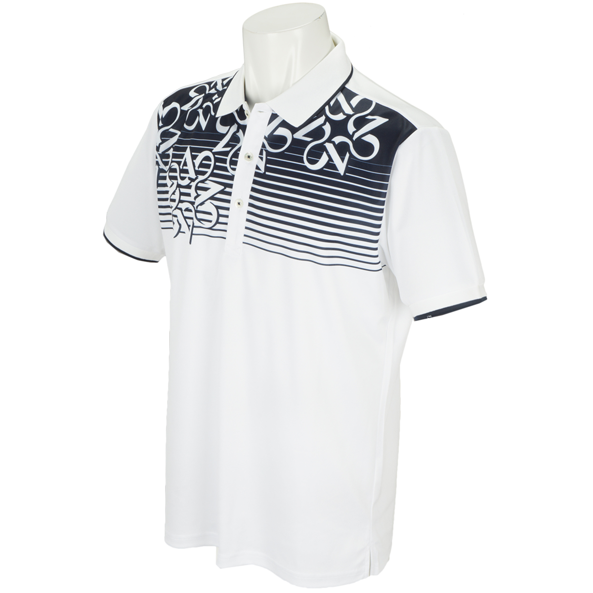 WhiteLabel COOLMAXケルトパネル柄プリント半袖ポロシャツ