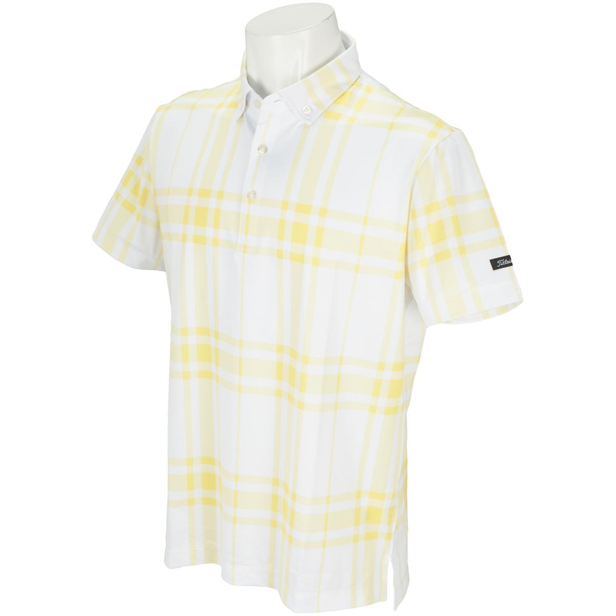 ストレッチクールコア チェックプリント半袖ポロシャツ