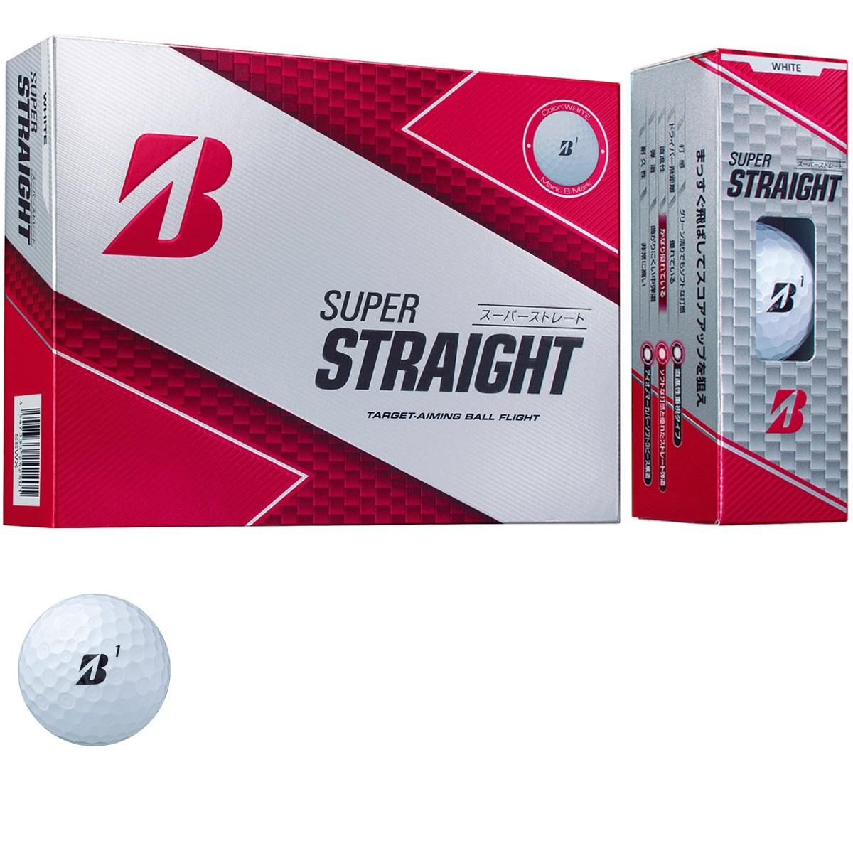 ブリヂストン BRIDGESTONE GOLF SUPER STRAIGHT ボール 1ダース(12個入り) ホワイト