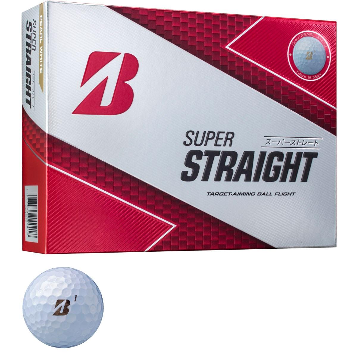 ブリヂストン BRIDGESTONE GOLF SUPER STRAIGHT ボール 1ダース(12個入り) パールホワイト