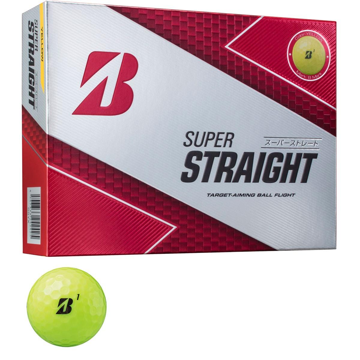 ブリヂストン BRIDGESTONE GOLF SUPER STRAIGHT ボール 1ダース(12個入り) イエロー