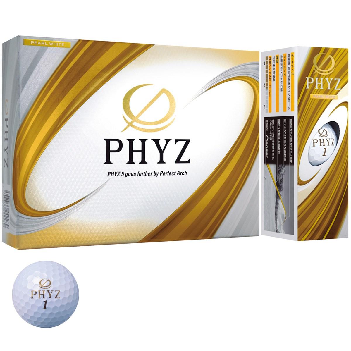 ブリヂストン PHYZ PHYZ ボール 1ダース(12個入り) パールホワイト