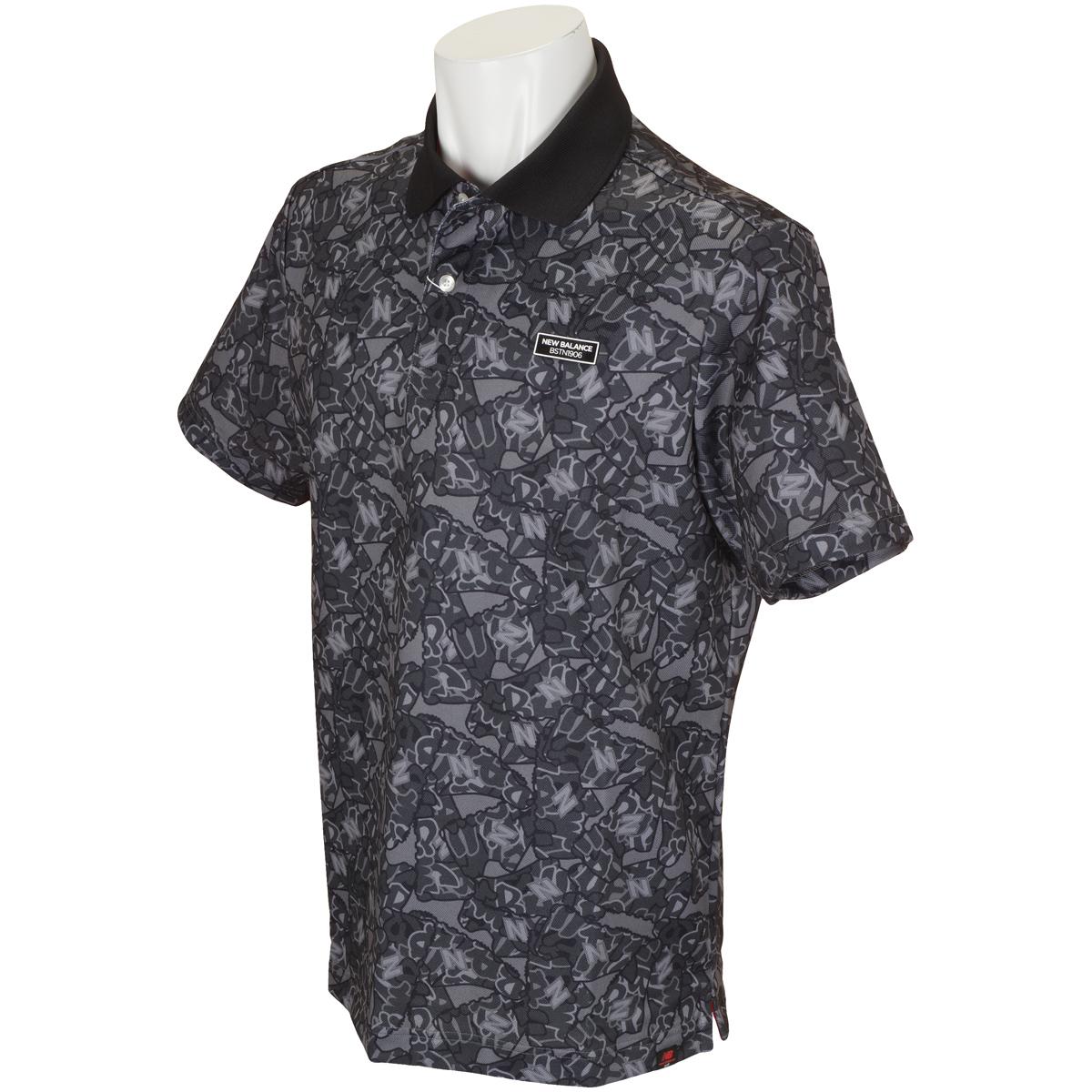METRO グラフィティーシューズプリント半袖ポロシャツ