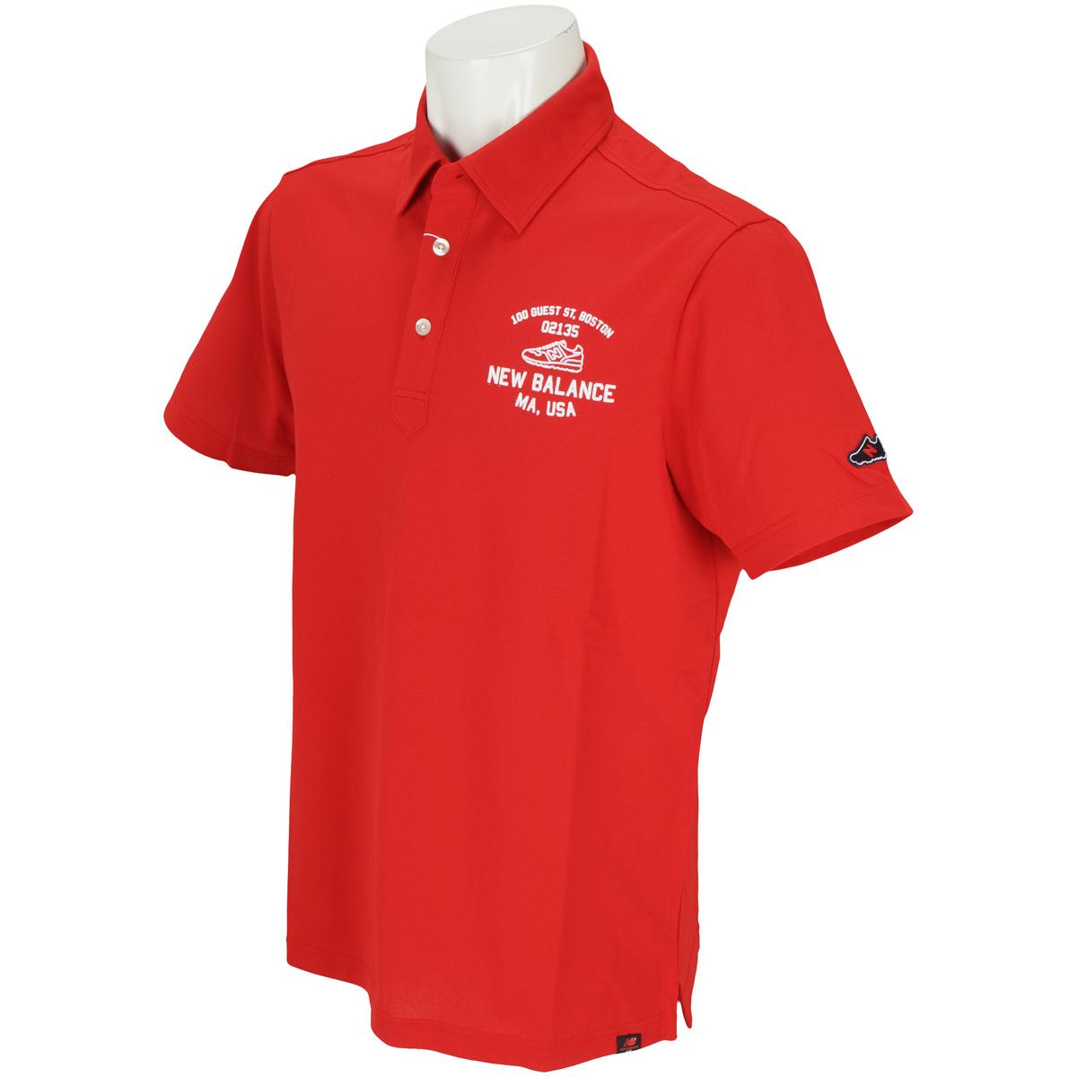 METRO タック鹿の子 半袖共衿ポロシャツ