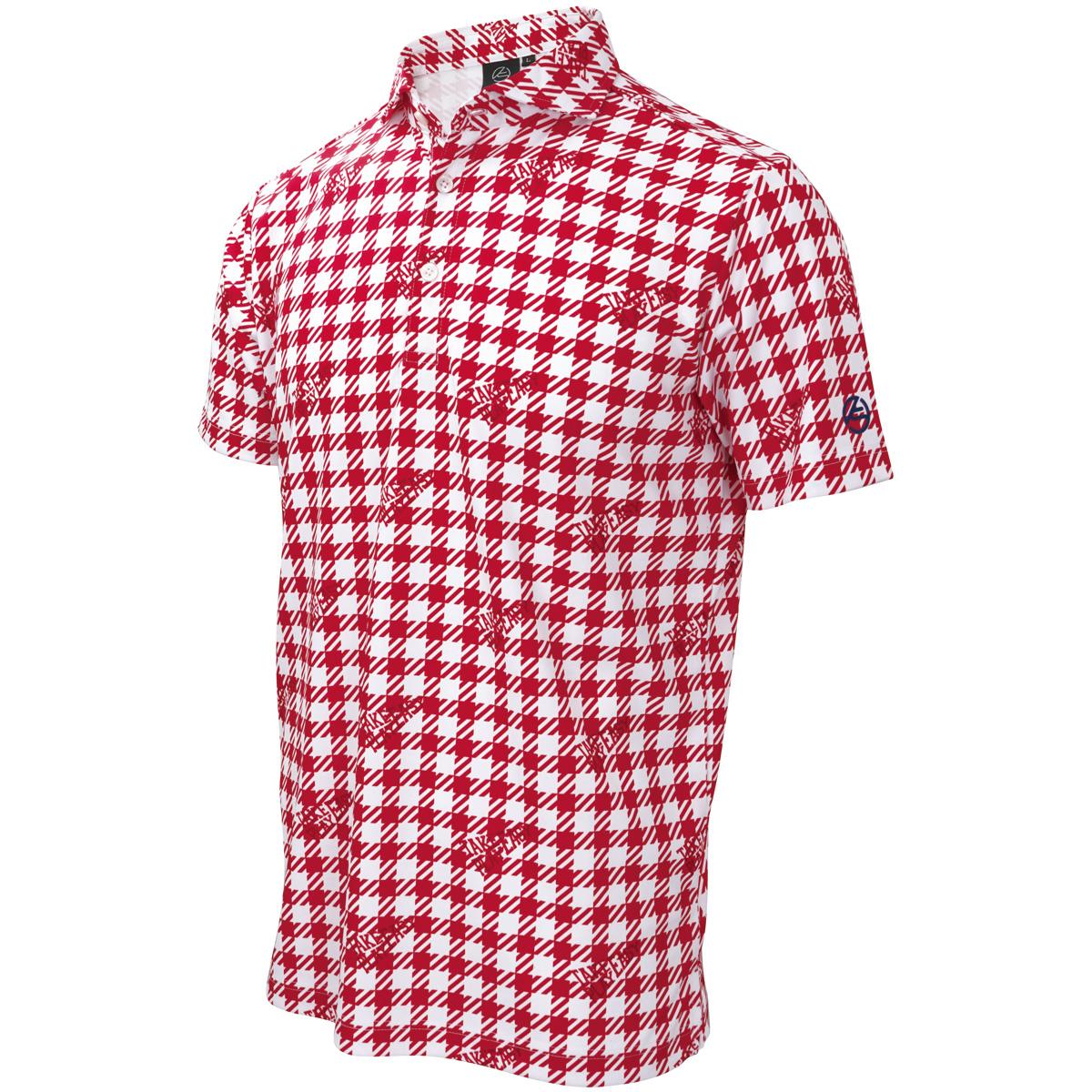 ギンガム半袖ポロシャツ