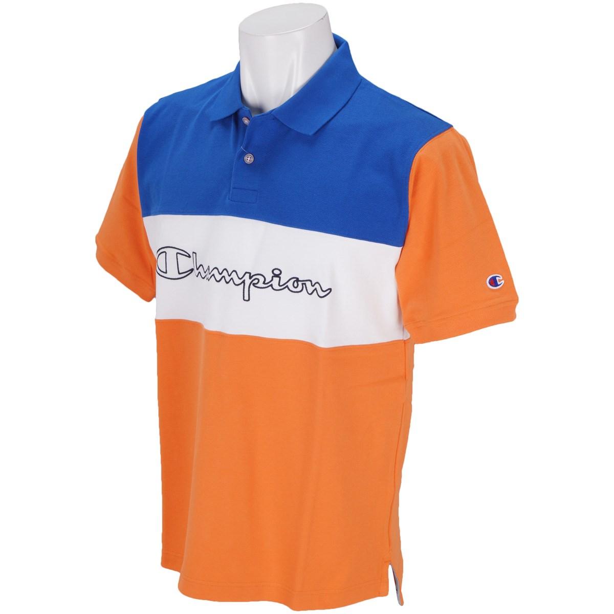 チャンピオン カラー切換 鹿の子半袖ポロシャツ
