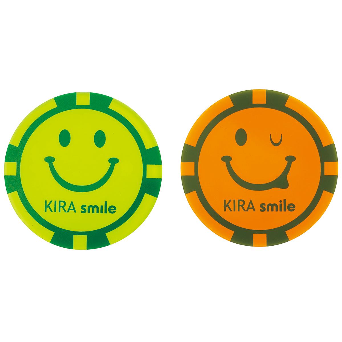 KIRA Smile 集光性アクリルコインマーカー 2個セット