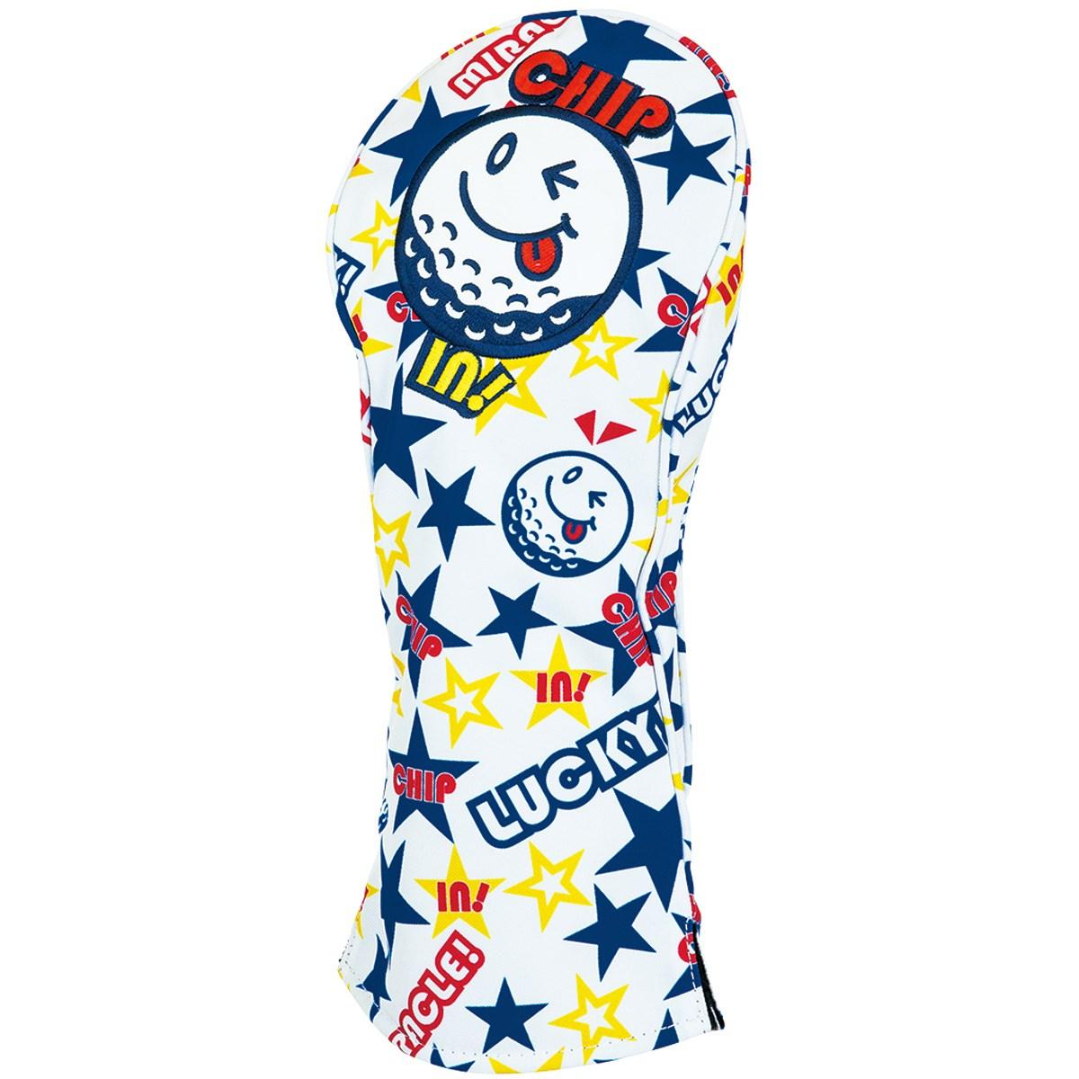 [アウトレット] [在庫限りのお買い得商品] WINWIN STYLE MIRACLE CHIP IN ヘッドカバー DR用 ホワイト メンズ ゴルフ