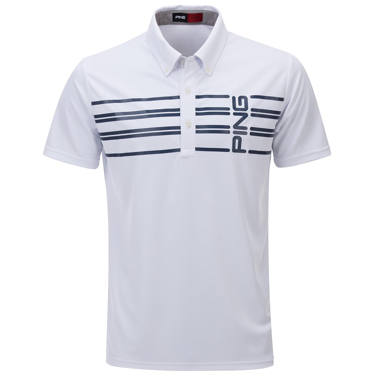ボーダープリント半袖ポロシャツ