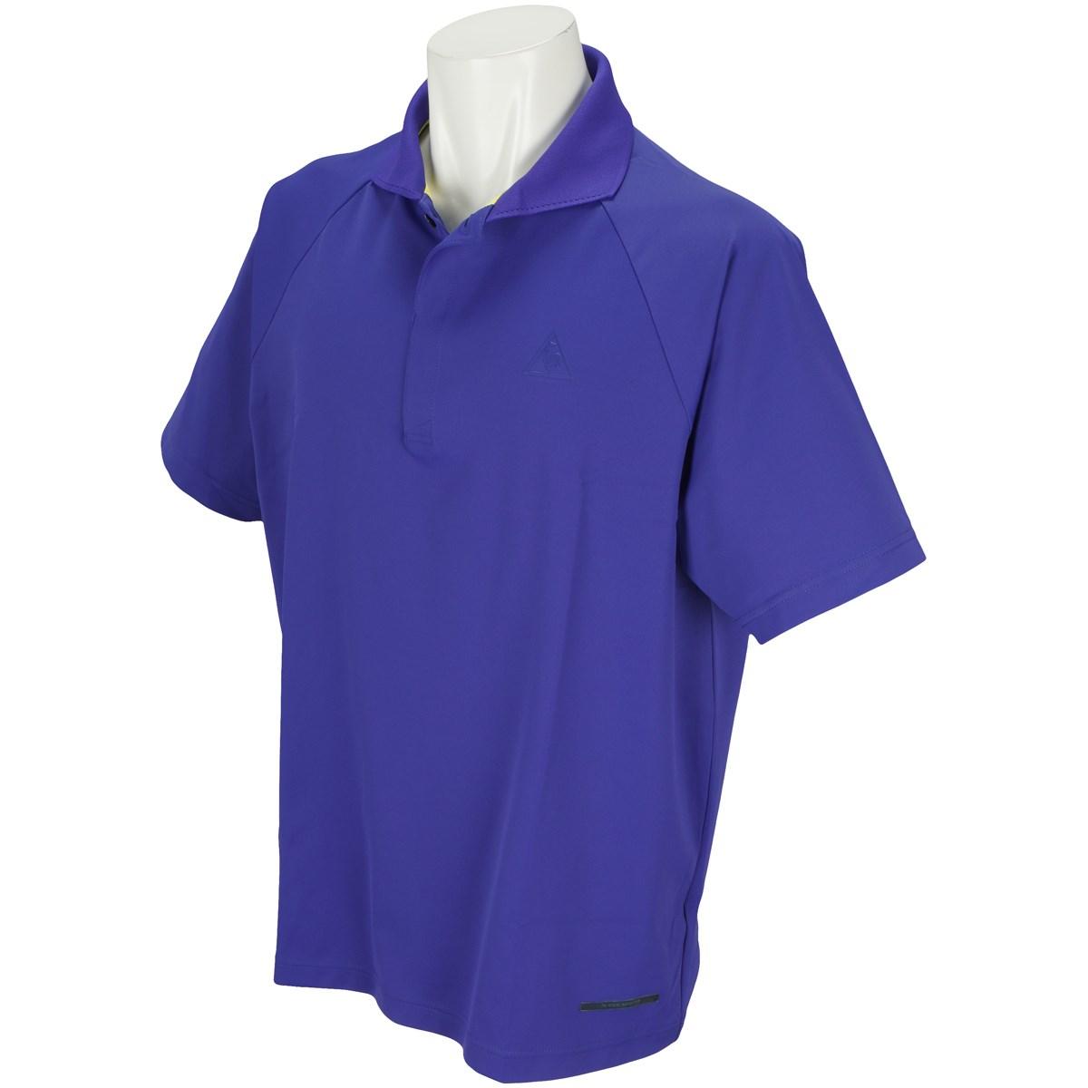 ルコックゴルフ Le coq sportif GOLF ストレッチ 半袖ポロシャツ M ブルー 00