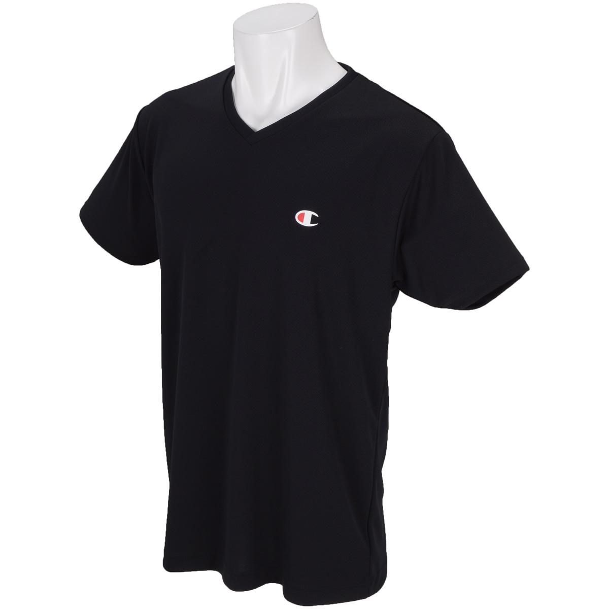 PE MESH Vネックアンダー半袖Tシャツ