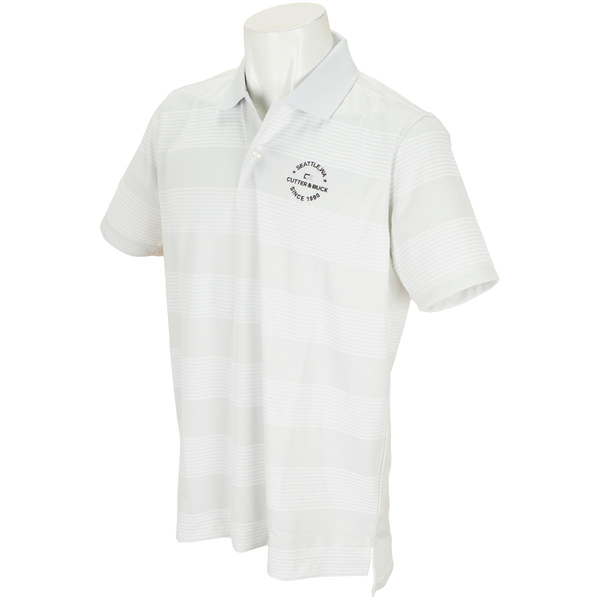バーズアイボーダー半袖ポロシャツ
