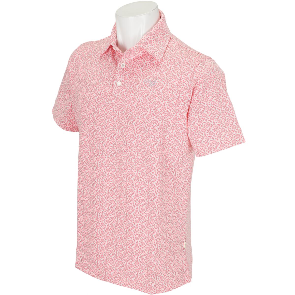 サラサフラワー半袖ポロシャツ