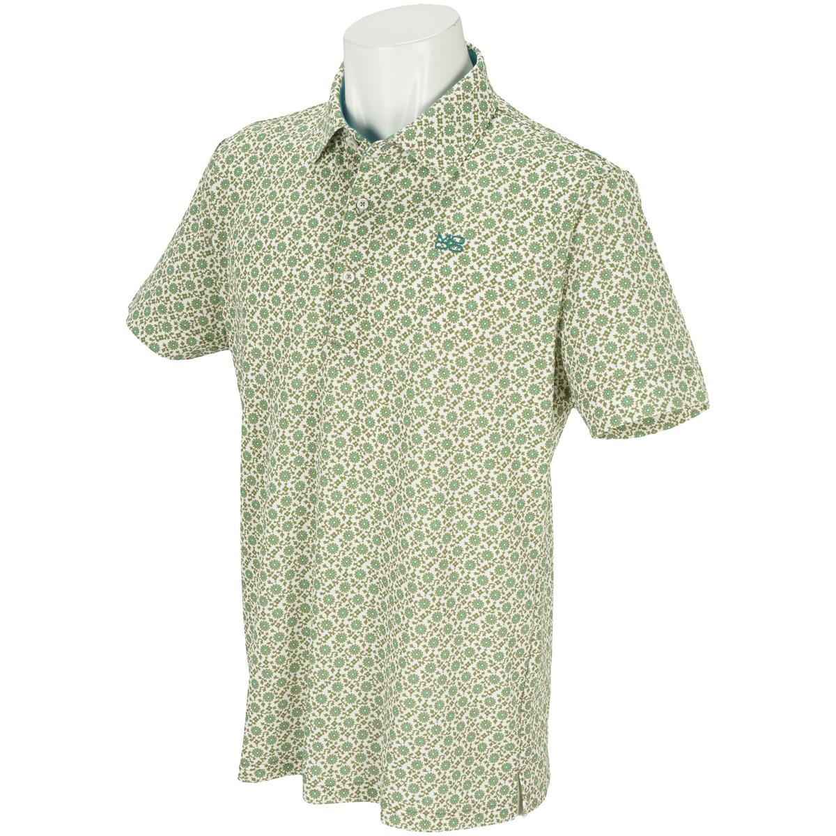 サラサフラワープリント半袖ポロシャツ