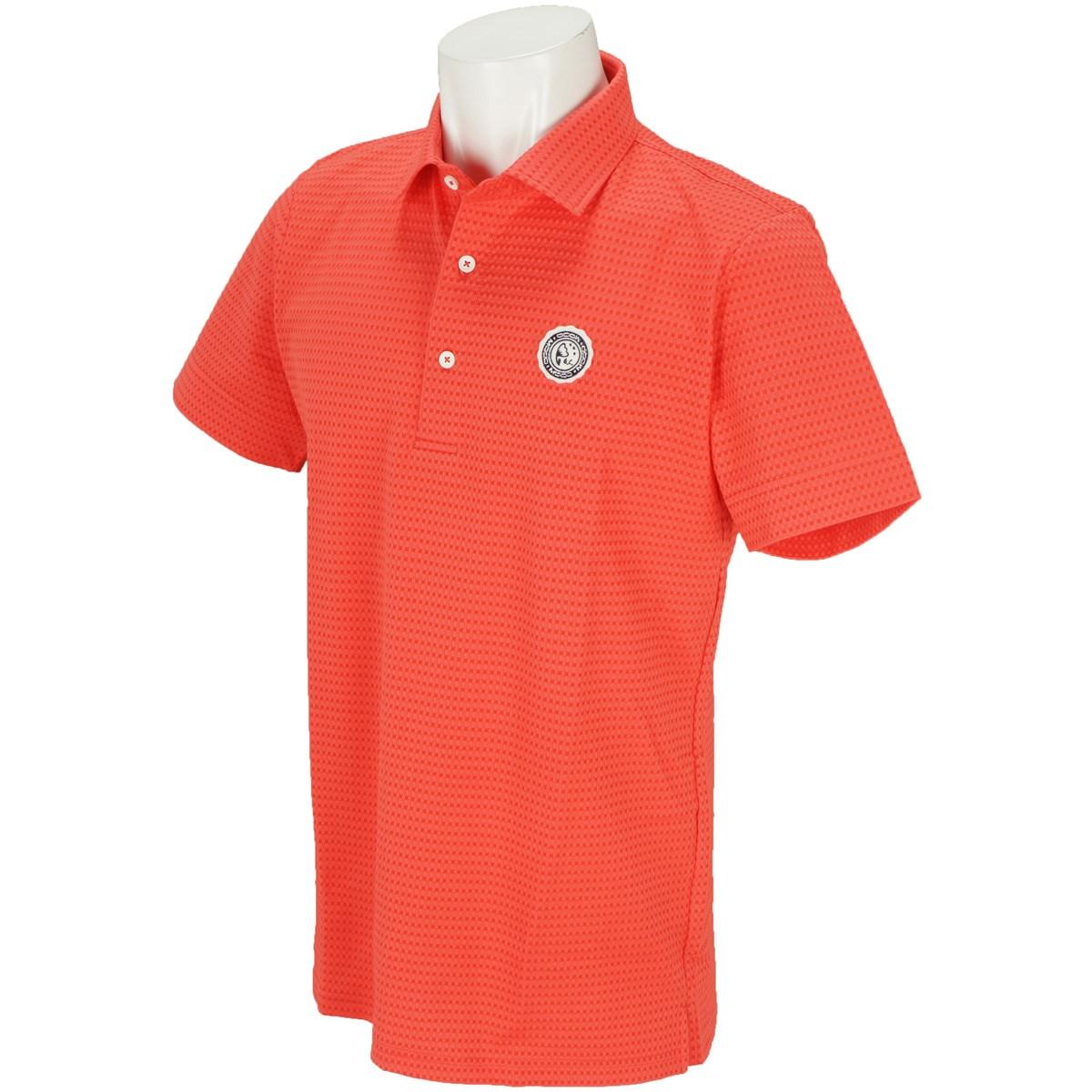 モコ MOCO サッカー半袖ポロシャツ M サンゴレッド